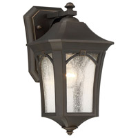 Solida 1 Light 12 inch Oil Rubbed Bronze with Gold Highlight Outdoor Wall Lantern
