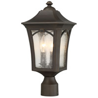 Minka-Lavery 71216-143C Solida 3 Light 18 inch Oil Rubbed Bronze with Gold Highlights Outdoor Post Mount Lantern The Great Outdoors