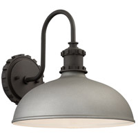 Minka-Lavery 71251-295 Escudilla 1 Light 12 inch Sand Silver Outdoor Wall Mount, Great Outdoors