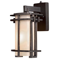 The Great Outdoors by Minka Lugarno Square 1 Light Wall Lamp in Forged Silver 72011-A173-PL