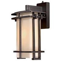 The Great Outdoors by Minka Lugarno Square 1 Light Wall Lamp in Forged Silver 72012-A173-PL