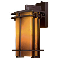 The Great Outdoors by Minka Lugarno Square 1 Light Wall Lamp in Dorian Bronze 72012-A615B-PL
