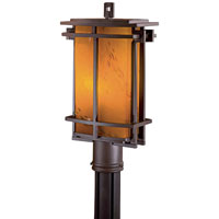 Lugarno Square 1 Light 17 inch Dorian Bronze Post Light