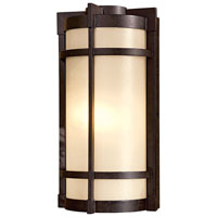 Andrita Court 1 Light 17 inch Textured French Bronze Outdoor Pocket Lantern