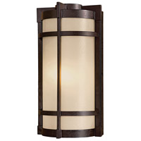 Minka-Lavery 72021-A179 Andrita Court 1 Light 17 inch Textured French Bronze Outdoor Wall Mount
