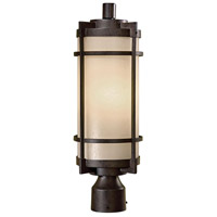 Andrita Court 1 Light 20 inch Textured French Bronze Outdoor Post Mount Lantern, The Great Outdoors