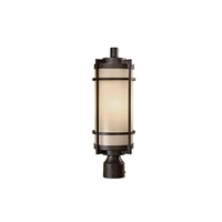 Minka-Lavery 72026-A179 Andrita Court 1 Light 20 inch Textured French Bronze Outdoor Post Great Outdoors