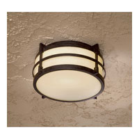 The Great Outdoors by Minka Andrita Court 1 Light Flush Mount in Textured French Bronze Finish w/Pearl Mist Glass 72029-179-PL