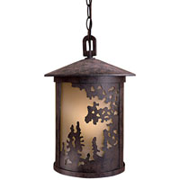 Sunset Ranch 1 Light 10 inch Textured French Bronze Outdoor Hanging