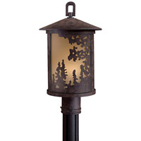 The Great Outdoors by Minka Sunset Ranch 1 Light Post Light in Textured French Bronze 72036-179-PL
