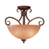 Minka-Lavery Caspian 2 Light Semi-flush in Golden Bronze 721-355