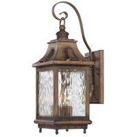 Wilshire Park 3 Light 19 inch Portsmouth Bronze Outdoor Wall Lantern, The Great Outdoors