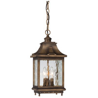 Wilshire Park 3 Light 8 inch Portsmouth Bronze Outdoor Chain Hung Lantern