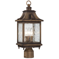 Wilshire Park 3 Light 19 inch Portsmouth Bronze Outdoor Post Mount Lantern