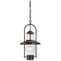 Settlers Way 1 Light 10 inch Textured French Bronze Outdoor Chain Hung Lantern