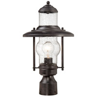 Settlers Way 1 Light 18 inch Textured French Bronze Outdoor Post Mount Lantern