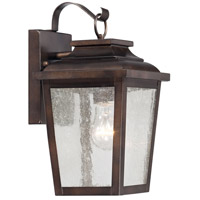 Irvington Manor 1 Light 12 inch Chelesa Bronze Outdoor Wall Mount Lantern