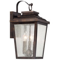 Irvington Manor 3 Light 17 inch Chelesa Bronze Outdoor Wall Mount Lantern