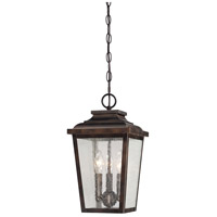 Irvington Manor 3 Light 9 inch Chelesa Bronze Outdoor Chain Hung Lantern