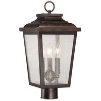 Minka-Lavery 72176-189 Irvington Manor 3 Light 18 inch Chelesa Bronze Outdoor Post Mount Lantern