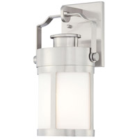 The Great Outdoors by Minka Vista Delmar 1 Light Outdoor Wall Lantern in Brushed Stainless Steel 72191-144