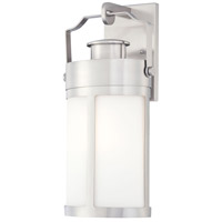 The Great Outdoors by Minka Vista Delmar 1 Light Outdoor Wall Lantern in Brushed Stainless Steel 72192-144
