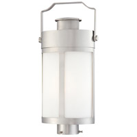 The Great Outdoors by Minka Vista Delmar 1 Light Outdoor Pocket Lantern in Brushed Stainless Steel 72196-144