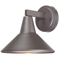 The Great Outdoors by Minka Bay Crest 1 Light Outdoor Wall Lantern in Dorian Bronze (Aluminum Const.) 72211-615B