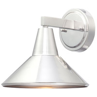 The Great Outdoors by Minka Bay Crest 1 Light Wall Lamp in Brushed Aluminum Finish 72211-A144