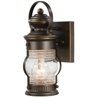 Lynnfield 1 Light 12 inch Oil Rubbed Bronze/Gold Outdoor Wall Mount Lantern