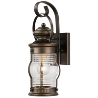 Lynnfield 1 Light 17 inch Oil Rubbed Bronze/Gold Outdoor Wall Mount Lantern
