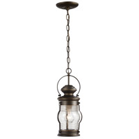 Minka-Lavery 72234-143C Lynnfield 1 Light 6 inch Oil Rubbed Bronze with Gold Highlights Outdoor Pendant The Great Outdoors