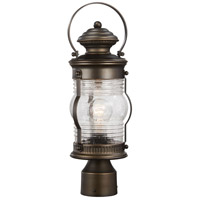 Lynnfield 1 Light 18 inch Oil Rubbed Bronze/Gold Outdoor Post Mount Lantern