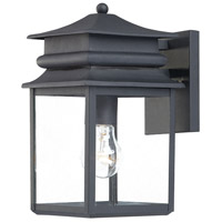 The Great Outdoors by Minka Winward Manor 1 Light Outdoor Wall Lantern in Black 72281-66