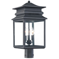 The Great Outdoors by Minka Winward Manor 3 Light Post Light in Black 72286-66