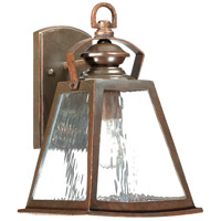 The Great Outdoors by Minka Oxford Road 1 Light Outdoor Wall Lantern in Architectural Bronze w/Copper Highlights 72291-291