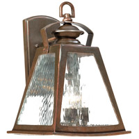 Oxford Road 4 Light 17 inch Architectual Bronze/Copper Highlights Outdoor Wall Mount Lantern