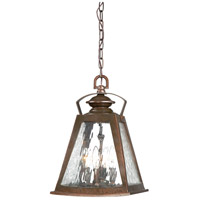 Oxford Road 4 Light 11 inch Architectual Bronze/Copper Highlights Outdoor Chain Hung Lantern