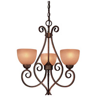 Minka-Lavery Caspian 3 Light Mini Chandelier in Golden Bronze 723-355
