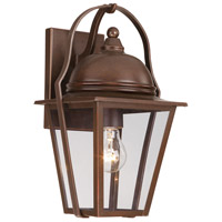 The Great Outdoors by Minka Signature 1 Light Wall Bracket in Architectural Bronze w/Copper Highlights 72301-291