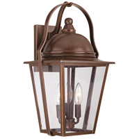 The Great Outdoors by Minka Riverdale Court 3 Light Wall Bracket in Architectural Bronze w/Copper Highlights 72302-291