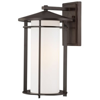 The Great Outdoors by Minka Addison Park 1 Light Wall Bracket in Dorian Bronze 72313-615B
