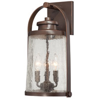 Travessa 3 Light 17 inch Architectual Bronze with Copper Highlights Outdoor Wall Light, The Great Outdoors