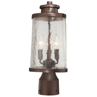 Travessa 3 Light 16 inch Architectual Bronze with Copper Highlights Outdoor Post Mount Lantern, The Great Outdoors