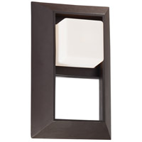 The Great Outdoors by Minka Casona Square 1 Light Wall Bracket in Dorian Bronze 72342-615B