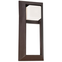 The Great Outdoors by Minka Casona Square 1 Light Wall Bracket in Dorian Bronze 72343-615B
