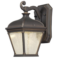 Lauriston Manor LED 10 inch Oil Rubbed Bronze/Gold Outdoor Wall Mount Lantern