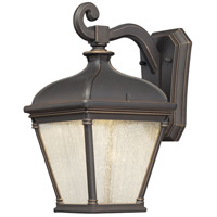 Lauriston Manor LED 13 inch Oil Rubbed Bronze/Gold Outdoor Wall Mount Lantern