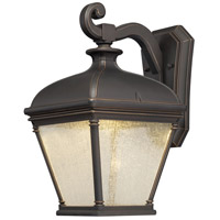 Lauriston Manor LED 16 inch Oil Rubbed Bronze/Gold Outdoor Wall Mount Lantern