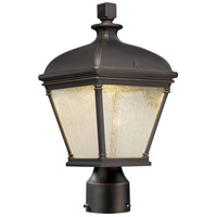 Lauriston Manor LED 15 inch Oil Rubbed Bronze/Gold Outdoor Post Mount Lantern